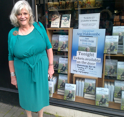 Ann at Waterstones Book Launch